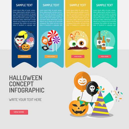 Halloween Infographic. Ilustracja