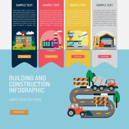 Infografisches Bauen und Bauen Standard-Bild - 73283251