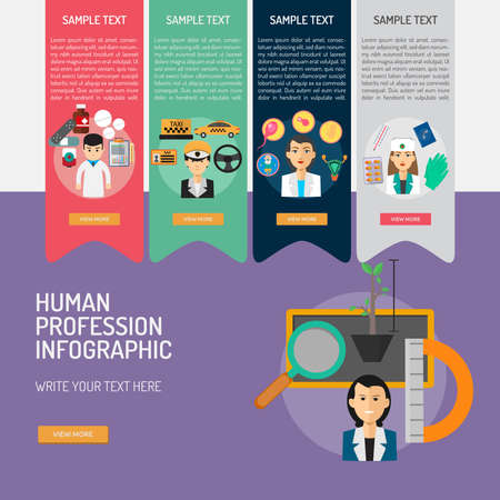 Infographic Human Profession