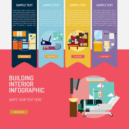 Infographic Building Interior