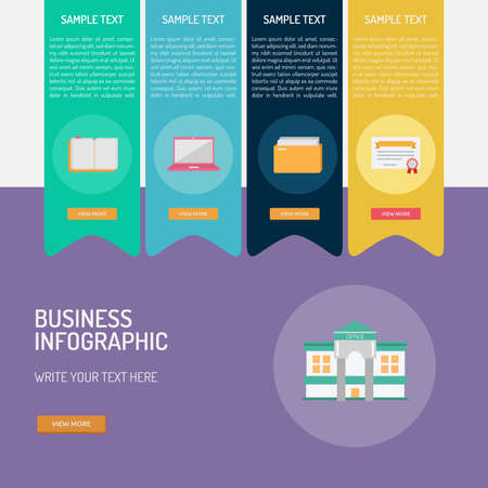 Business Infographic illustration.