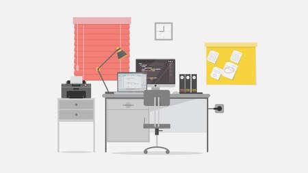 Programmer Workspace Background 向量圖像