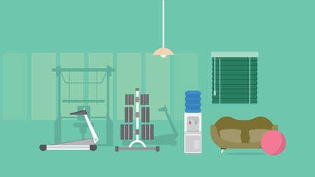 Fitness Background Иллюстрация