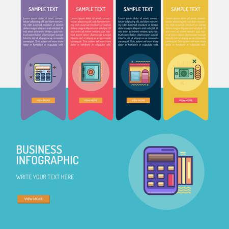 ビジネスのインフォ グラフィック