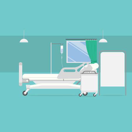 病室の背景  イラスト・ベクター素材