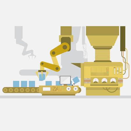 Factory Background Ilustracja