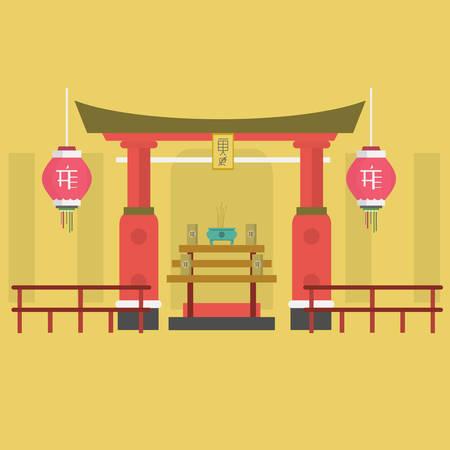 Shrine Background Иллюстрация