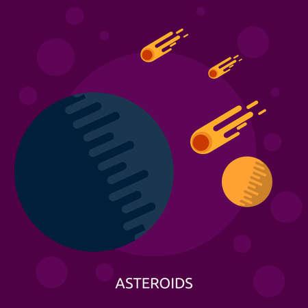 小惑星の概念設計  イラスト・ベクター素材