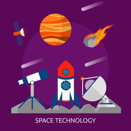 宇宙技術の概念設計。  イラスト・ベクター素材