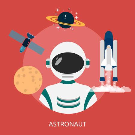 宇宙飛行士の概念設計  イラスト・ベクター素材