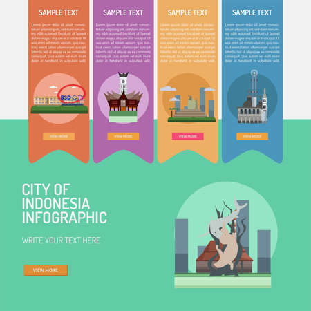 Infographic City of Indonesian