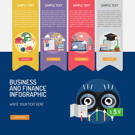 analyst: Infographic Business and Finance