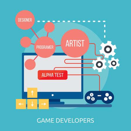 Game Developers Conceptual Design Ilustração