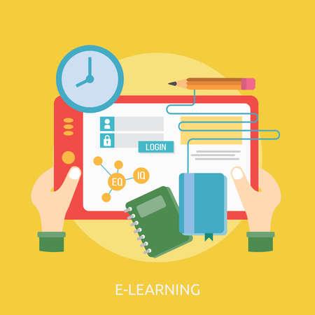 E-Learning Conceptual Design Illustration