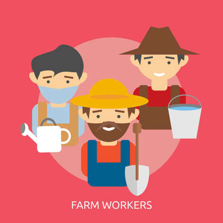 Farm Workers Conceptual Design Ilustrace