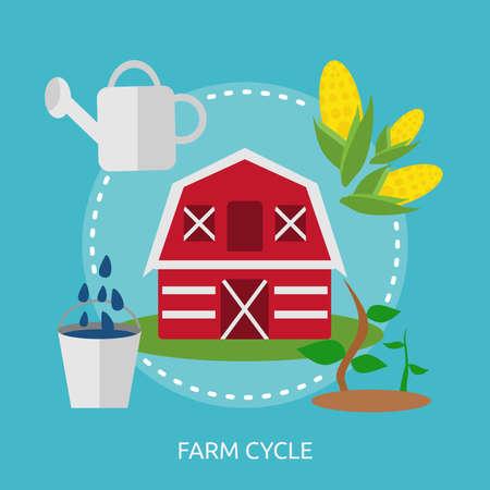 농장주기 개념 설계 일러스트