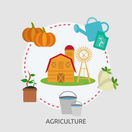 Landbouw conceptueel ontwerp Stock Illustratie