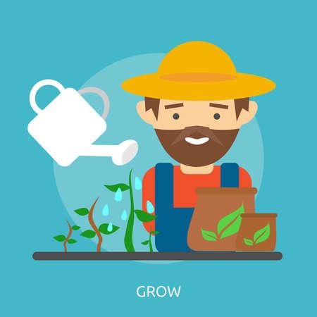 개념적 디자인 성장 일러스트