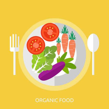 Biologisch voedsel conceptontwerp Stock Illustratie