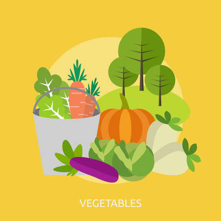 야채 개념적 디자인