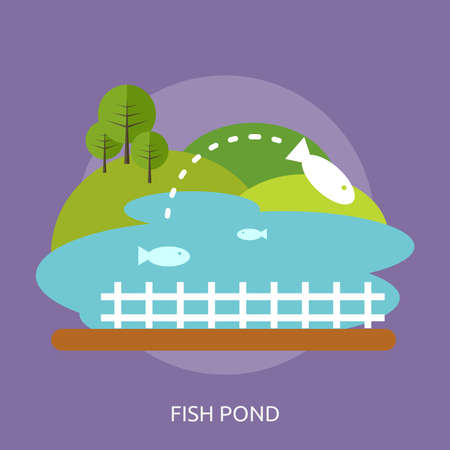 Fish Pond Conceptual Design 向量圖像
