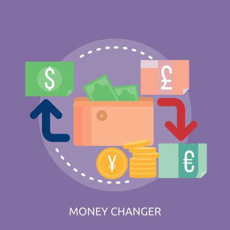 Money Changer Conceptual Design Иллюстрация