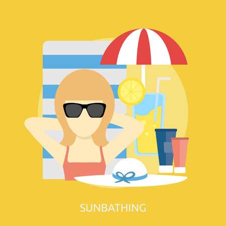 Sunbathing Conceptual Design Ilustração