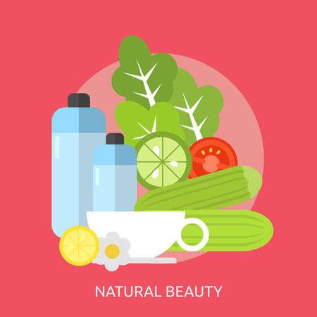 Natural Beauty Conceptual Design Ilustração