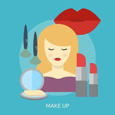 Make Up Conceptual Design Ilustracja
