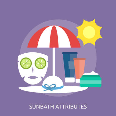 Sunbath Attributes Conceptual Design Иллюстрация