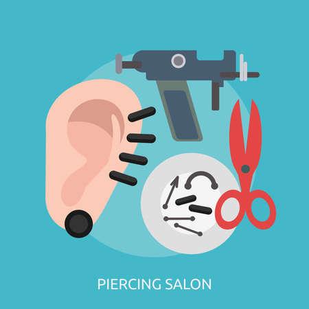 Piercing Salon Conceptual Design