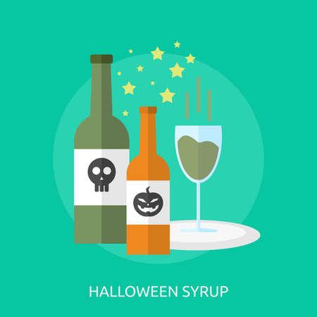 Halloween Syrup Conceptual Design Banco de Imagens - 80617538