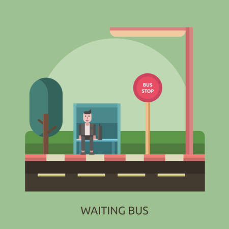 Waiting Bus Conceptual Design Ilustracja