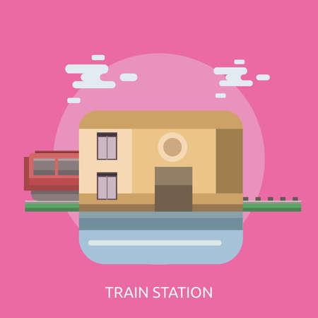 鉄道駅の概念設計  イラスト・ベクター素材