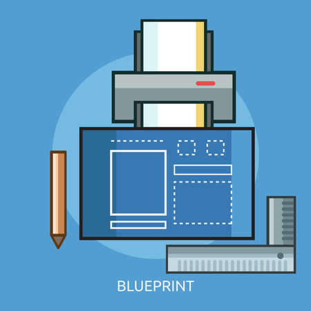 Blueprint Conceptual Design Ilustracja