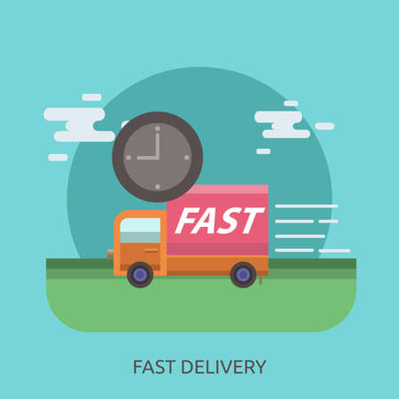 Fast Delivery Conceptual Design Stock Vector - 80617774