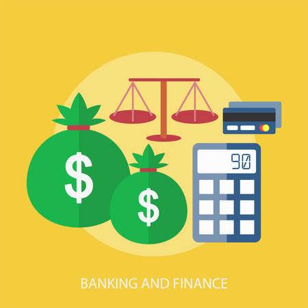 Banking And Finance Conceptual Design Ilustração