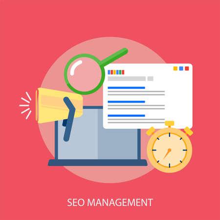 finding: Seo Management Conceptual Design Illustration