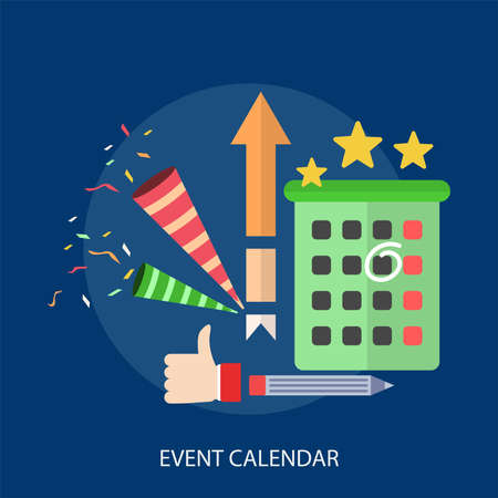 Event Calendar Conceptual Design Illustration