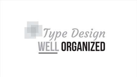 Type ontwerp goed georganiseerd typografie ontwerp
