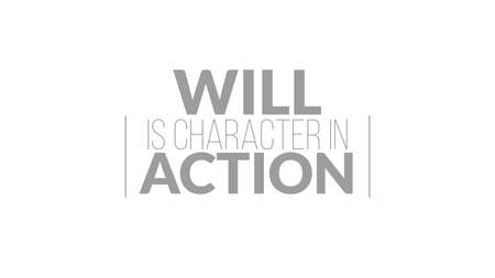 Will Is Character In Action Typography Design Ilustrace