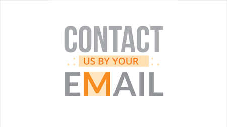 Contact Us By Your Email Typography Design Illustration