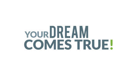 Your Dream Comes True Typography Design Иллюстрация