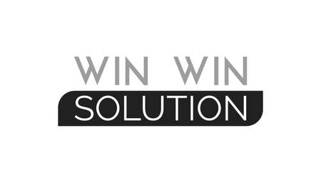 Win Win Solution Typography Design