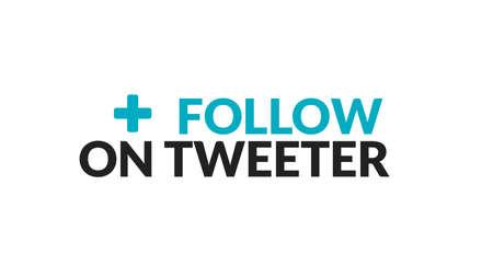 Follow On Tweeter Typography Design