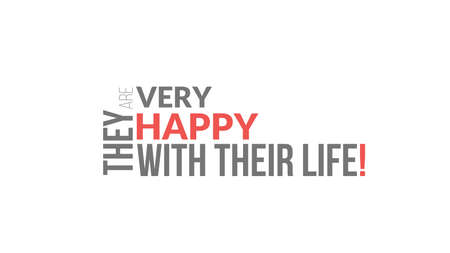 They Are Very Happy With Their Life Typography Design