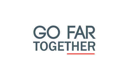 Go Far Together Typography Design