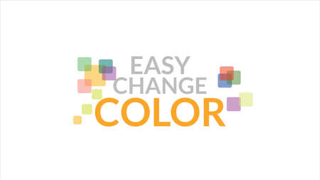 Easy Change Color Typography Design