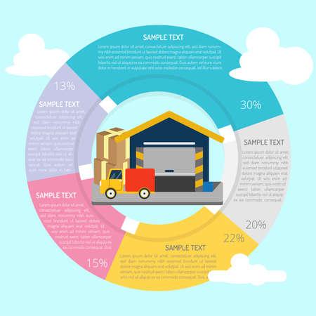 Warehouse Infographic Illustration