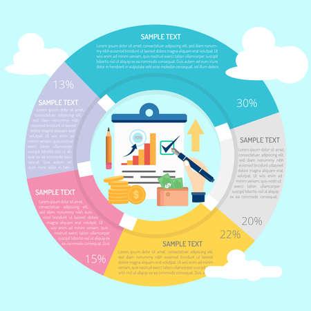 Report Infographic Vettoriali